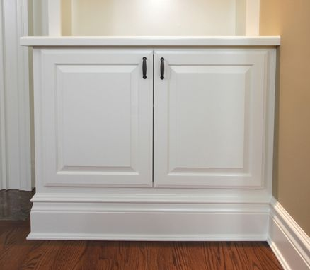 Custom Made Built-In Cabinets With Mantel 1
