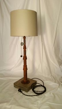 Custom Made Pole Table Lamp W/ Pulley