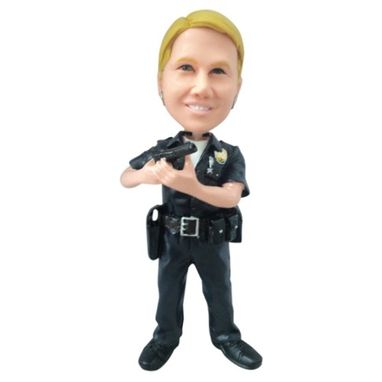 Custom Made Personalized Police Figurine - A Great Police Gift Or Cake Topper