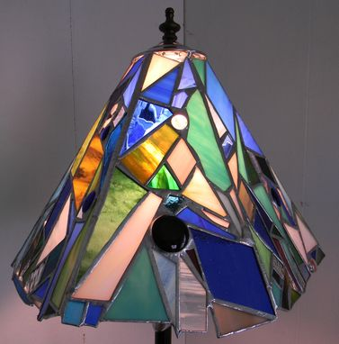 Custom Made Shade Of Delight Stained Glass Lampshade