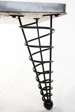 Custom Made 14 Inch Height, Modern Table Leg, Angled