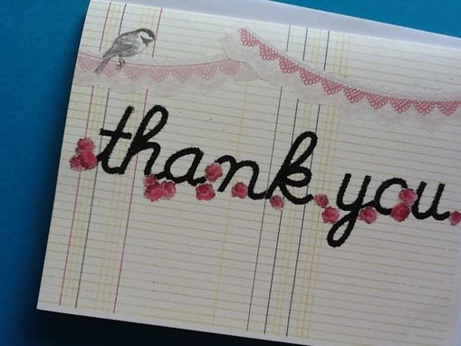 Custom Made Sweet Pink Bannered Thank You Notes