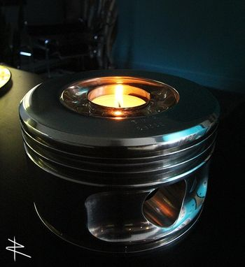 Custom Made Wwii Jacobs Radial Engine Piston Candle Holder