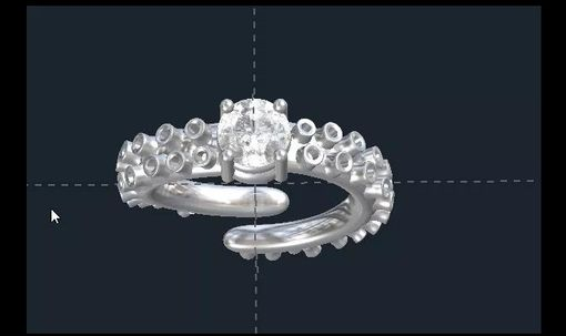 Custom Made Octopus Engagement Ring