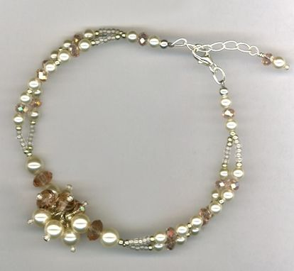 Custom Made Vintage With A Twist Creme Pearl Bracelet