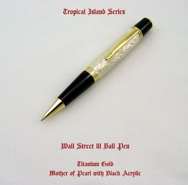 Custom Made Wall St Lll - Mother Of Pearl Ball Pen
