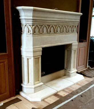 Custom Made Concrete Fireplace Mantels