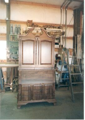 Custom Made Chippendale Block Front Secretary