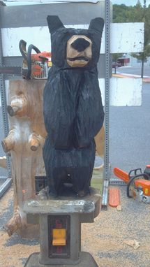 Custom Made Small Standing Chainsaw Carved Black Bear