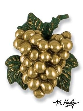 Custom Made Grape On The Vine Door Knocker Brass