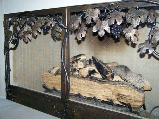 Custom Made Vineyard Fireplace Doors
