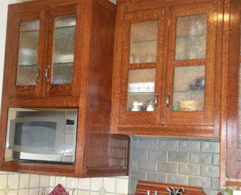 Custom Made Salvaged White Oak Kitchen Restoration