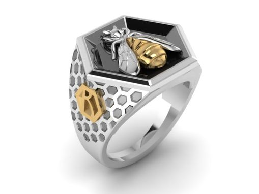 Custom Made Bee Signet Ring