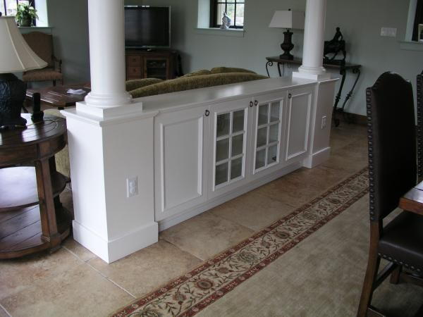 Custom Made Room Divider With Columns by Tony OMalley Custom