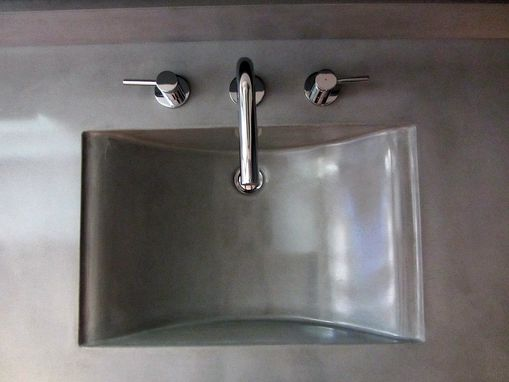 Hand Crafted Concrete Countertop And Integrated Sink By Coastal Concrete Design Custommade Com