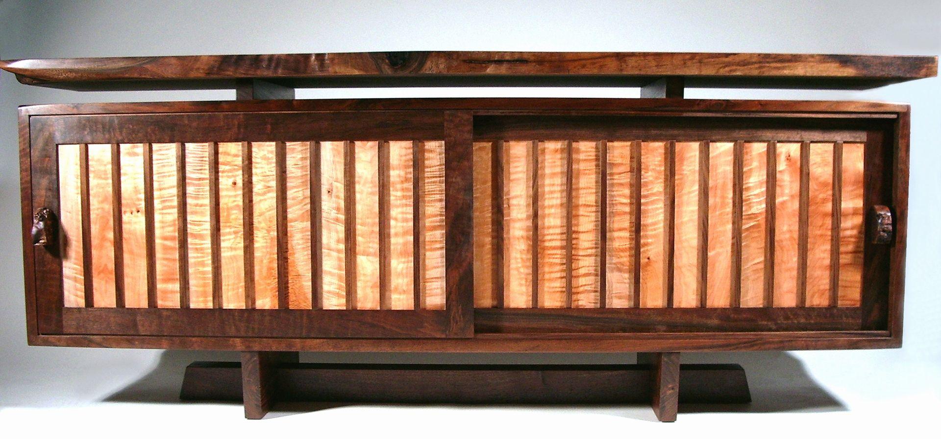 custom modern mid century credenza walnut live edge by. Black Bedroom Furniture Sets. Home Design Ideas