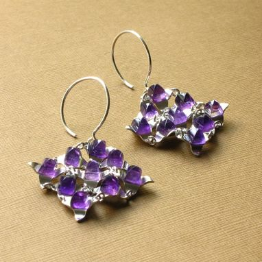 Custom Made Last Minute Shopping Small Falling Water Set Amethyst And Sterling Silver