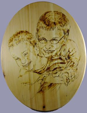 Custom Made Portraits On The Wood