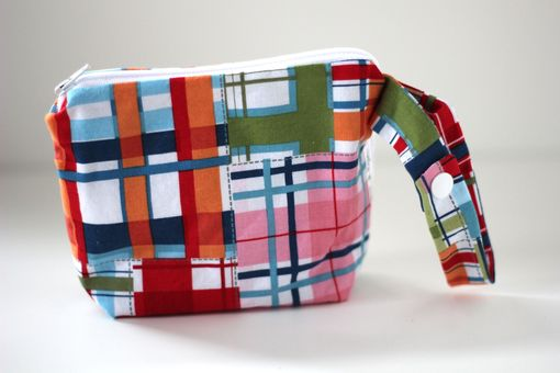 Custom Made Small Gusseted Messy Bags (Snack Bags) - Madras Plaid