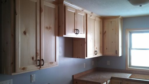 Custom Made Knotty Pine Kitchen/Bath Cabinets