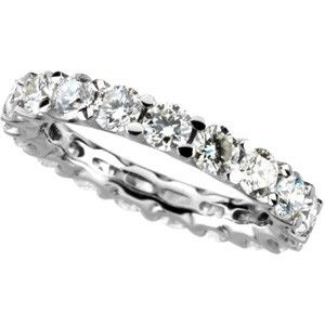 Custom Made Rock And Metal Shared Prong  Eternity Bands