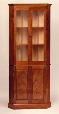Custom Made Walnut Corner Cabinet