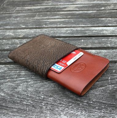 Custom Made Garny №22 - Leather Iphone 5/5s Wallet  - Buffalo And Cow Hide