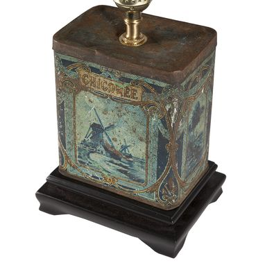 Custom Made Vintage Blue Chicoree Caddy Lamp