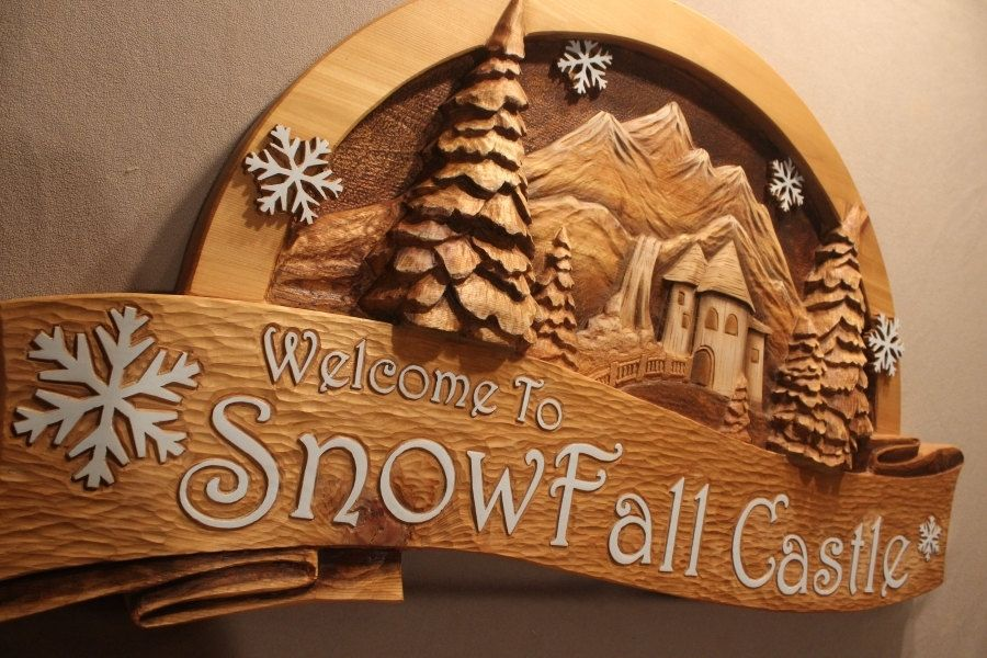 Hand crafted custom wood signs carved