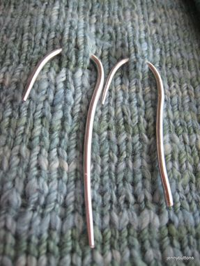 Custom Made Fine Silver Cable Needle Stitch Holder Set - Fabulous Knitter Gift