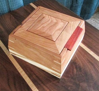 Custom Made Ambrosia Maple And Cherry Jewelry Box