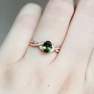 Custom Made 1.13 Carat Tourmaline Ring In 14k Rose Gold