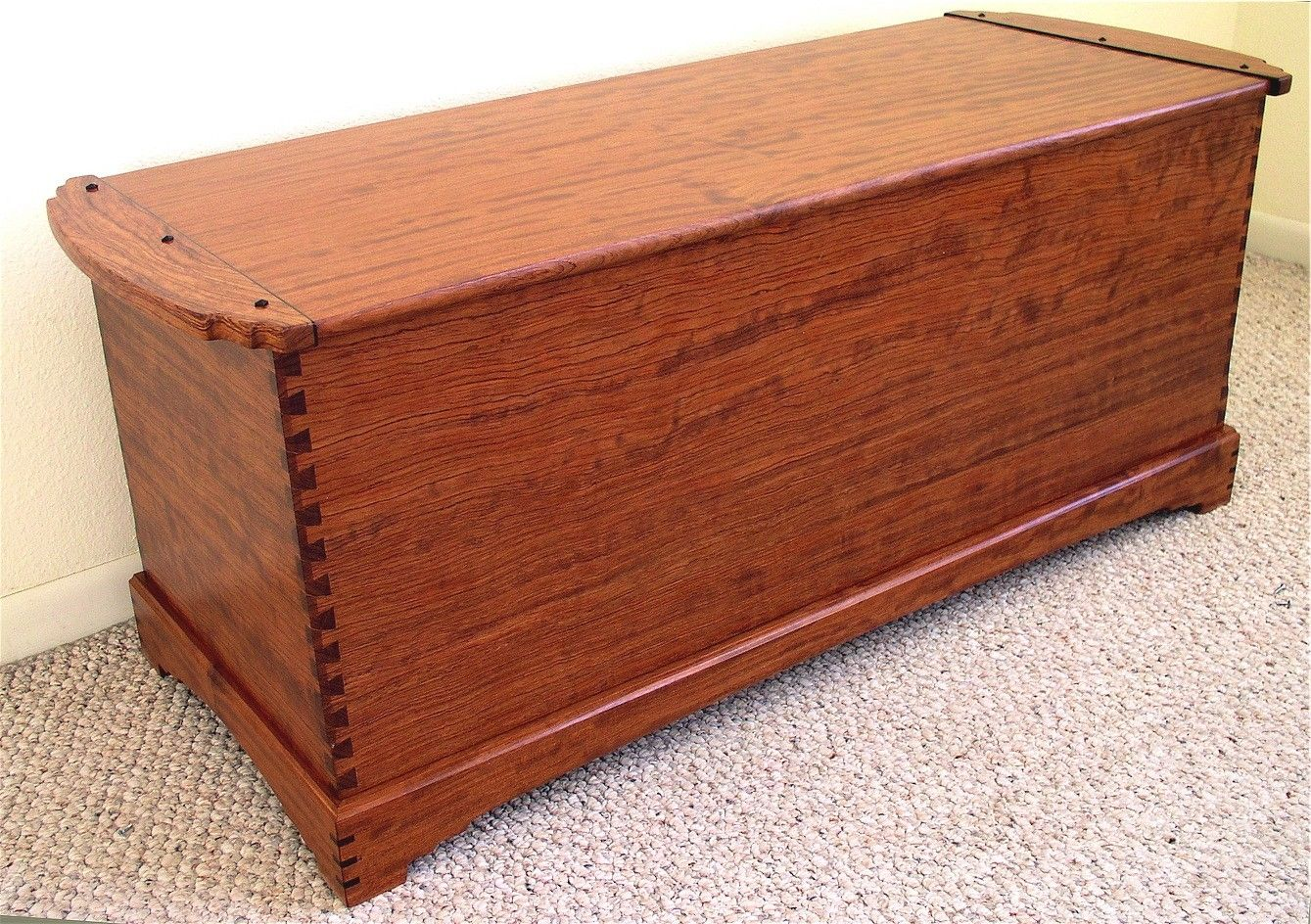 Wood Blanket Chest ~ Custom dovetailed blanket chest by louis fry craftsman in