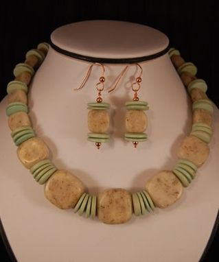 Custom Made Thyme After Thyme Necklace And Earrings Set