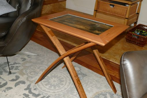 Custom Made Oak Wine Stay End Table