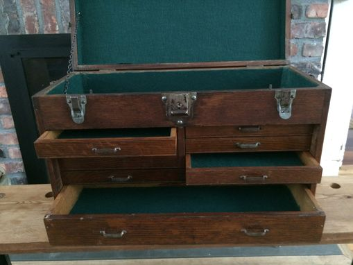 Custom Made Vintage Industrial Machinist Tool Box / Jewelry Box