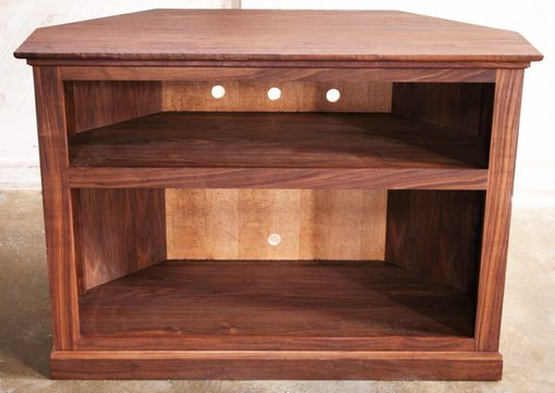 Custom Made Walnut Corner Tv Cabinet