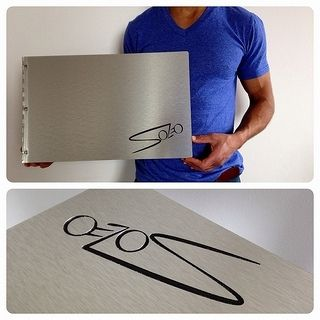 Custom Made Custom Brushed-Silver Aluminum Screw-Post Portfolio And Presentation Books