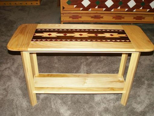 Custom Made # Sofa Tables With Inlayed Tops