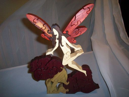 Custom Made Black Walnut, Purple Heart, Poplar, Pauduk, Ash Fairy Puzzle