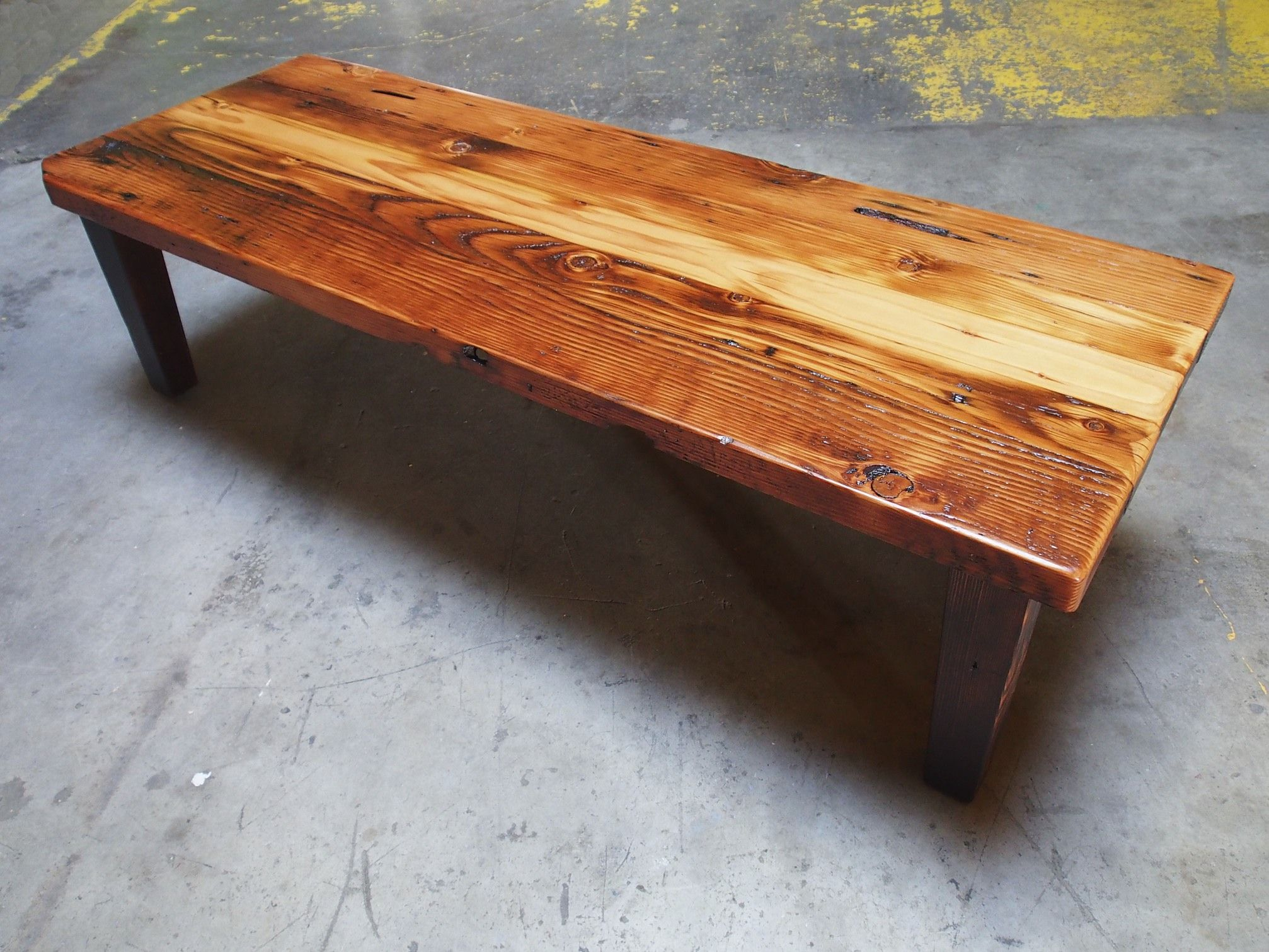 Custom Reclaimed Fir Coffee Table by Perfect45Degree