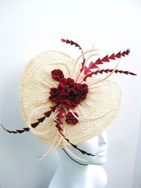 "Custom Made Bridal Fascinator - ""Eat Your Heart Out"""