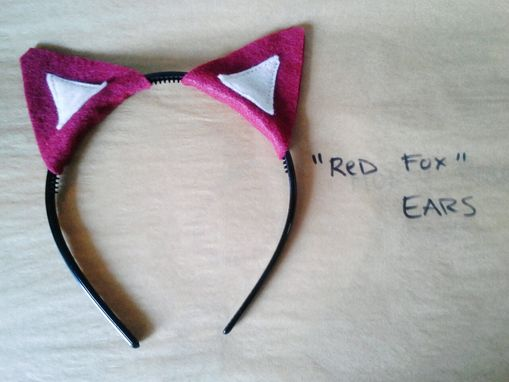 Custom Made Red Fox Ears Headband, Halloween Costume Or Dress Up Fox Ears For All Ages