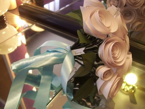 Custom Made Custom Paper Flower Wedding Bridal Bouquet