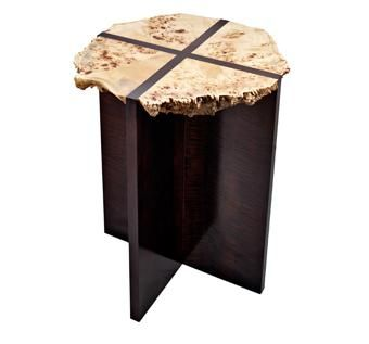 Custom Made Livewood Edge End Table