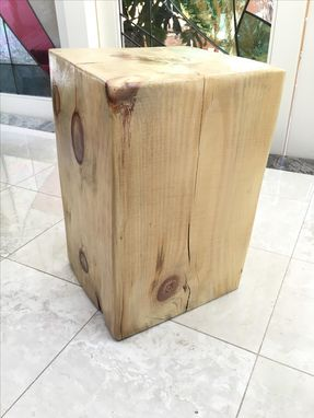 Custom Made Oak-Beam Side Table