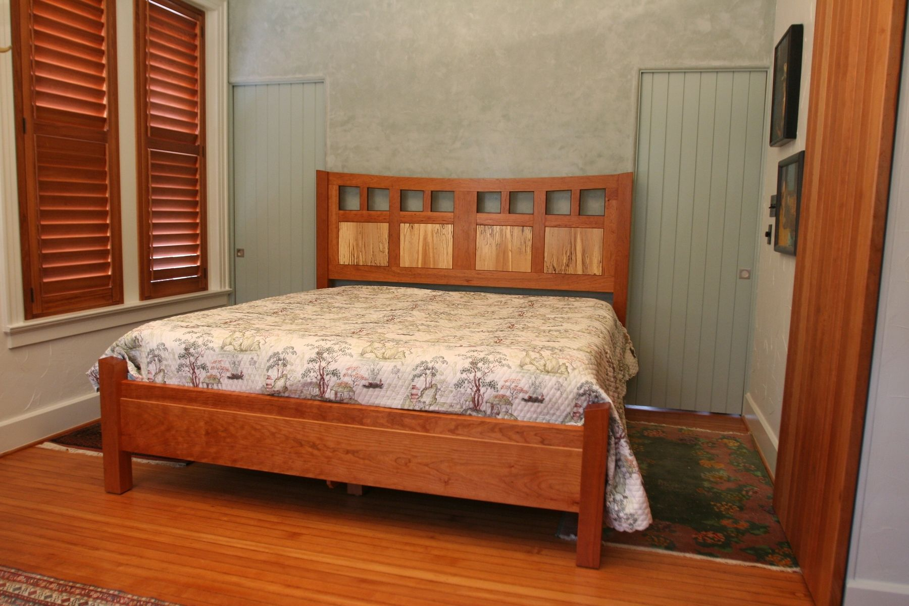 Hand made tollet cherry bed by white wind woodworking for Custom made furniture