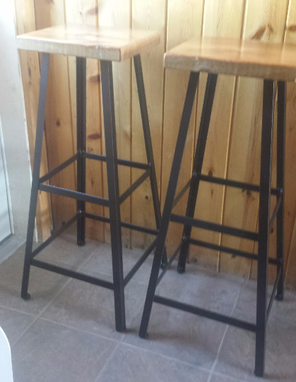 Custom Made Industria Metal Kitchen Stools