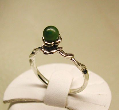 Custom Made Harebell & Jade Ring