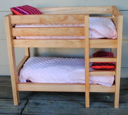Handmade Stained Wooden 18 Inch Doll Bunk Bed By Bloomin